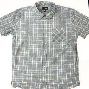 Hurley Men's Button Down Shirt short sleeve XXL